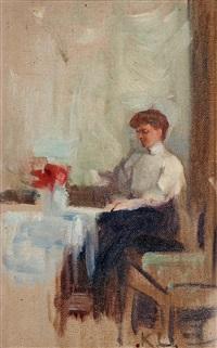 tant sigrid å verandan på rönneholm 1908 by karin stackelberg