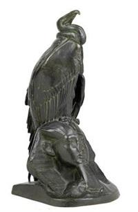 aasgeier auf sphinxkopf by auguste nicolas cain