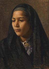 portrait einer orientalin by franz xavier kosler