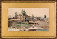 farm scene by charles lewis fussell