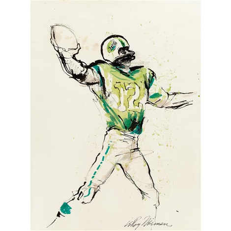 joe namath by leroy neiman