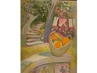 panier d'oranges dans le jardin by suzanne tourte
