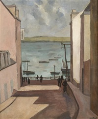 rue donnant sur le port by louis robert antral