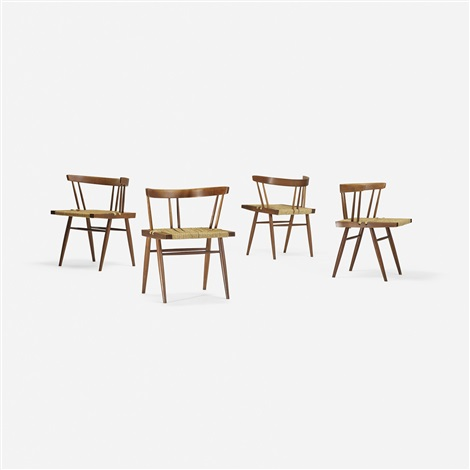 grass seated chairs set of 4 by george nakashima