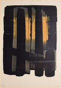 lithographie n°38 by pierre soulages