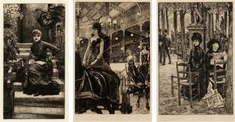 la soeur ainee ces dames des chars sans dot set of 3 by james jacques joseph tissot