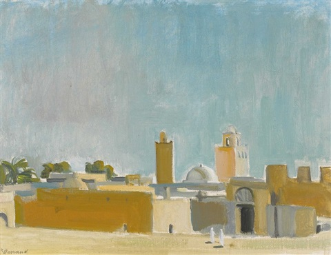 ansicht von touggourt in algerien by maurice barraud