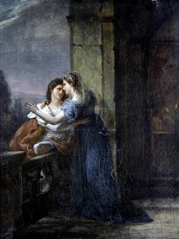 two lovers by louis charles auguste couder