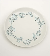 embroidered plate by hella jongerius