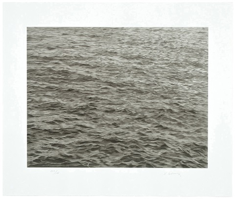 untitled ocean with cross 1 by vija celmins