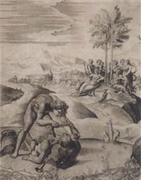 apoll schindet marsyas by giulio sanuto