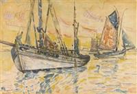 bateaux de pêche, le malo by paul signac
