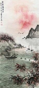 老虎滩渔港 by fu baoshi