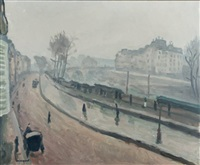 paris, quais des grands augustins by albert marquet