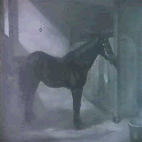 hunter in a stable by malcolm s m jacker