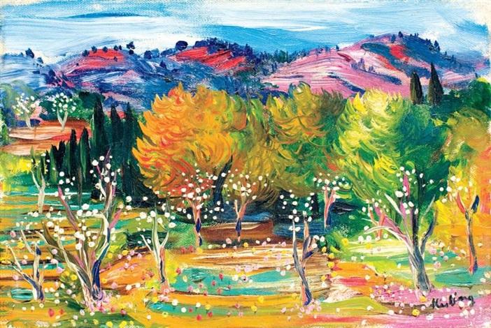 arbres en fleurs by moïse kisling