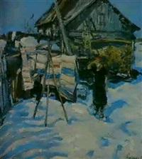 la maison au bord du chemin by leonid vaichlia