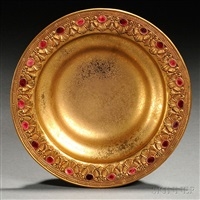 tiffany furances enameled bowl by tiffany studios