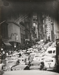 traffic in new york by t. lux feininger