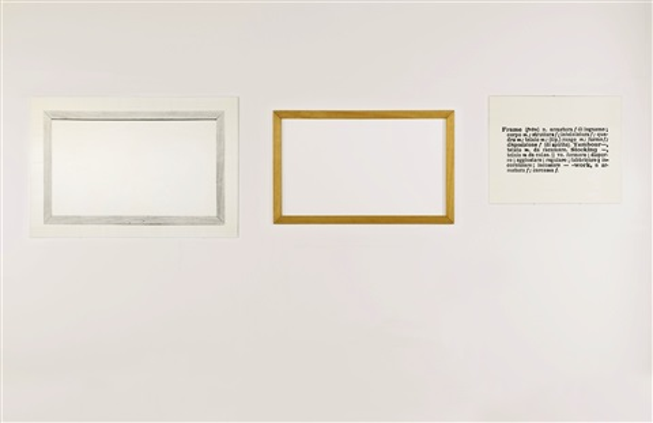 ONE AND THREE FRAMES by Joseph Kosuth on artnet