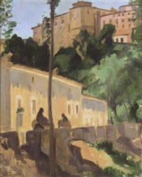 street scene in the ronda by william macdonald