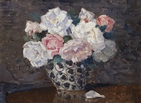 still life with roses by wilhelm ludwig lehmann