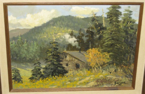 log cabin in the mountains by john barger