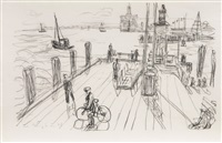 pier on the elbe by ivo hauptmann