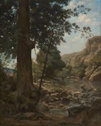 le petit pêcheur à la rivière by jean a. langrand