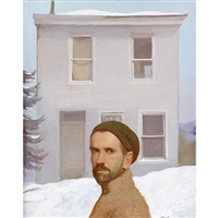 quiet house (self portrait) by bo bartlett