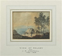 view at dalkey and dalkey island (pair) by john henry campbell