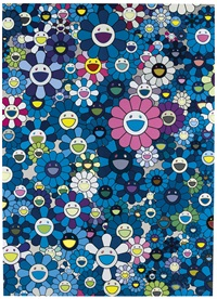 an homage to monogold 1960 b; an homage to ikb 1957 b; an homage to monopink 1960 b; and an homage to yves klein multicolor b (4 works) by takashi murakami