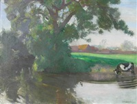 a leafy pool by william oliphant hutchison