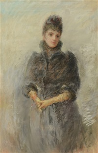 portrait of an elegant woman by william robert allan