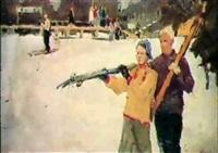 les skieurs by lidia davidenkova