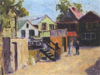 coyle village scene by sarah margaret armour robertson