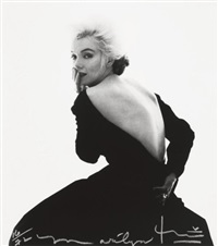 marilyn monroe, dior black dress, vogue by bert stern