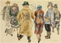 promenade by george grosz