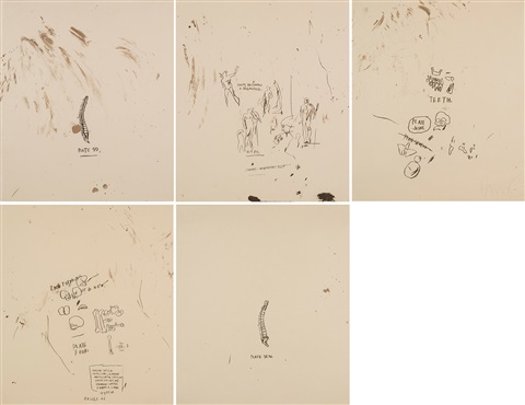 untitled from leonardo portfolio of 5 by jean michel basquiat