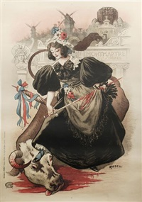 montmartre, nouvelle athènes (poster) by auguste roedel