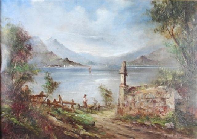 italian landscape by f mancini