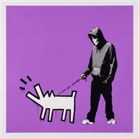 choose your weapon (bright purple) by banksy