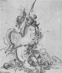 design for a cartouche by reinier vinkeles
