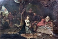 cordelia and king lear by robert alexander hillingford