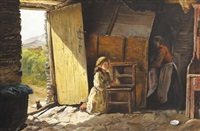 morning prayer, cottage interior, county cork by james brenan