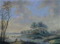 landschaft mit fischern by johann jakob hoch