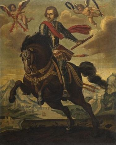 portrait équestre cardinal infant ferdinand by hispano flemish school 17