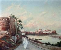 vue de la kasbah des oudayäs à rabat by lievin