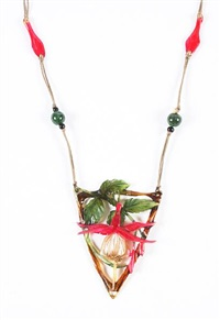 horn pendant by elizabeth bonte