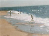 playing in the surf by norman hepple